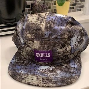 Other - Skulls Brooklyn strap back hat new without tags